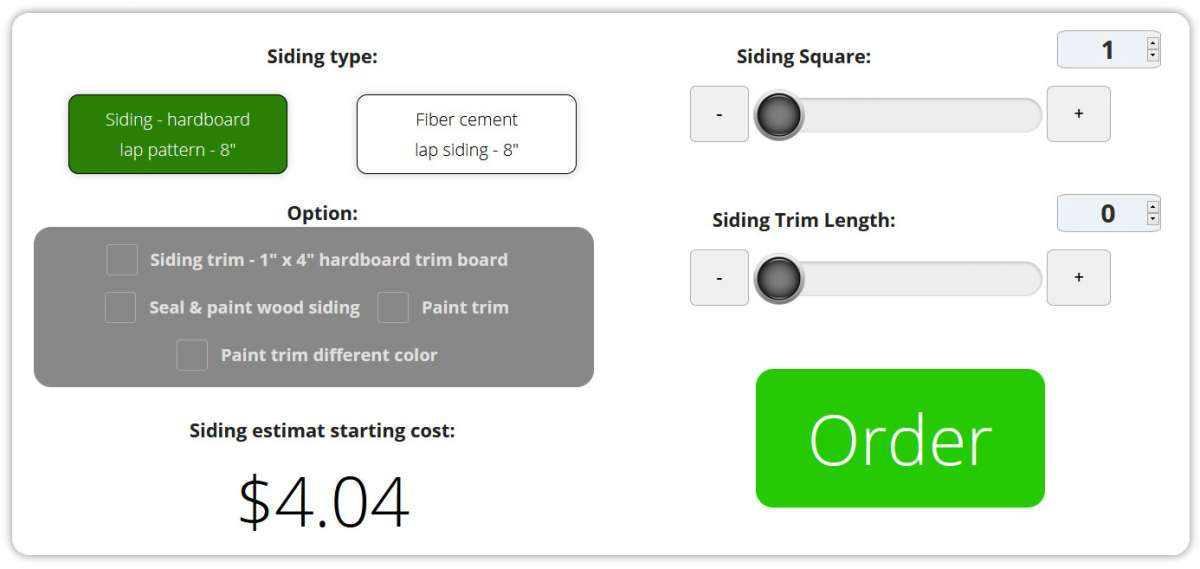 How To Use Our Siding Price Calculator